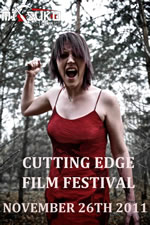 Poster for the Cutting Edge Film Festival in Newcastle on 26th November